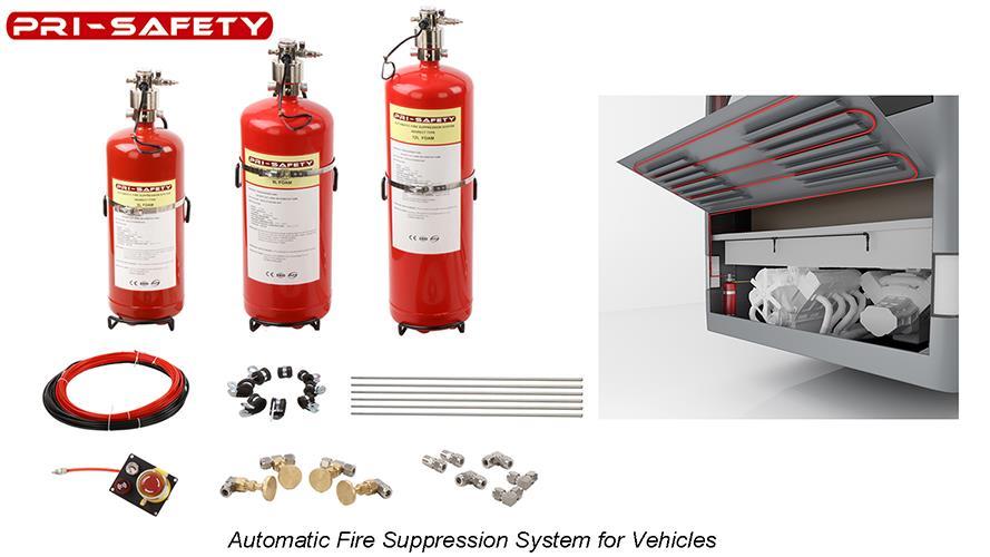 Hệ thống chữa cháy xe cho ô tô hoàn toàn tự động